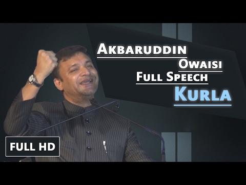 Akbaruddin Owaisi Full HD Speech || Kurla West 10th Feb 17