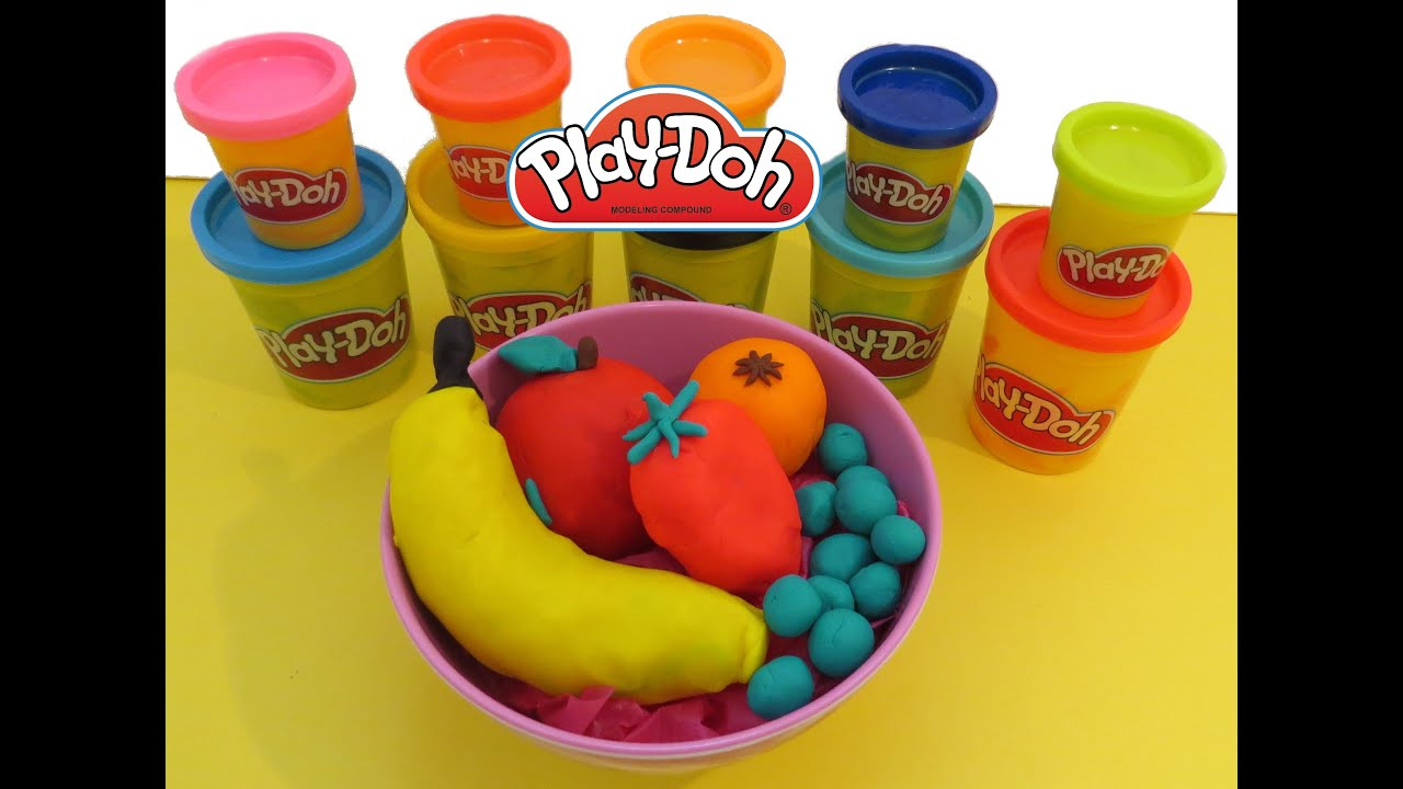 Play doh fruits surprises apple banana strawberry grapes for Play doh cuisine