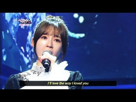 [Music Bank w/ Eng Lyrics] Davichi -  Be Warmed (2013.04.27)