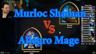 Allegro Mage vs Murloc Shaman | Hearthstone