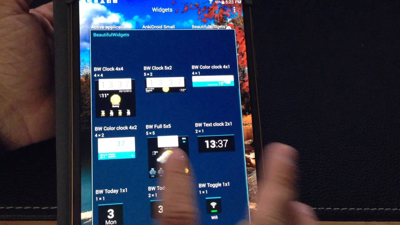 samsung galaxy tab s 8 4 amp 10 5 tip change the weather