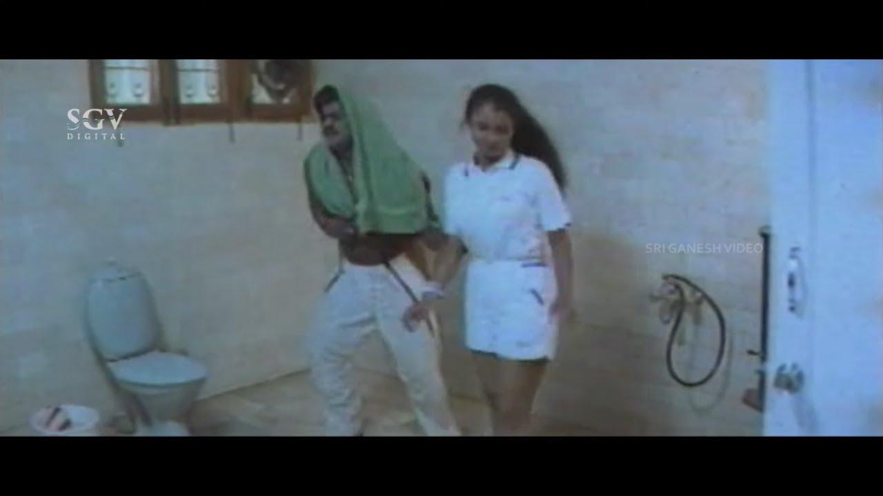 Jaggesh Using Western Commode Comedy Scene   Pattanakke Banda Putta Kannada Movie