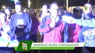 JOSÉ REYES PONE EN FUNCIONAMIENTO PROYECTO DE ELECTRIFICACIÓN EN A.H JARDÍN DE SANTA MARÍA