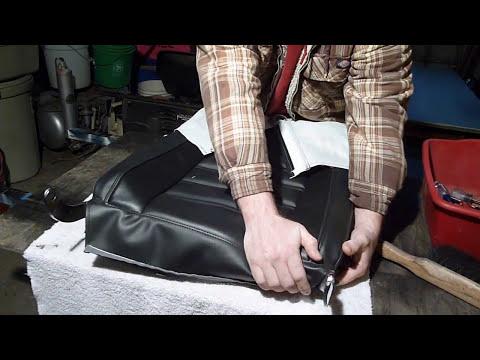 REUPHOLSTER A CORVETTE SEAT FINISH