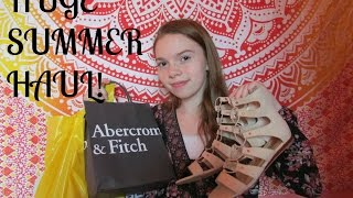 HUGE SUMMER HAUL| FOREVER 21, ABERCROMBIE, HOLLISTER, AND MORE