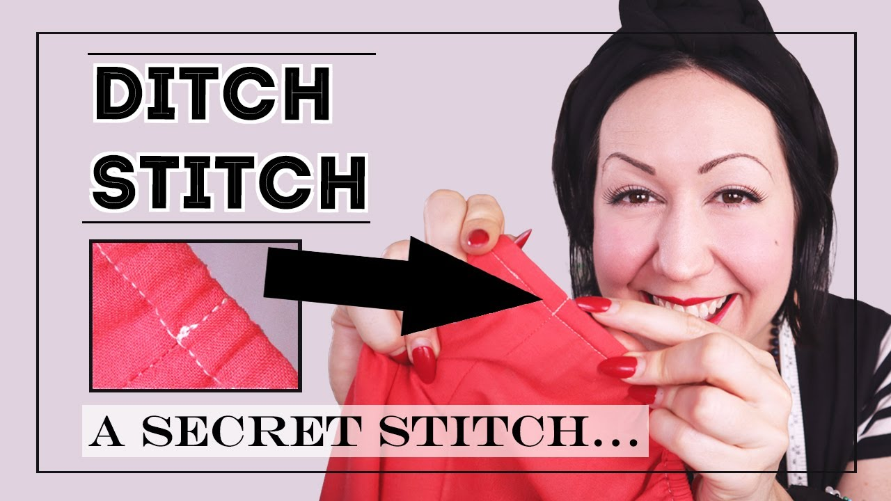 DITCH STITCH or STITCH IN THE DITCH –A secret to sew facings down and finish waistbands invisibly!
