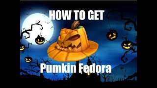 How to get the Pumpkin Fedora | ROBLOX halloween event 2018!