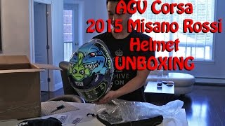 unboxing agv corsa 2015 misano rossi