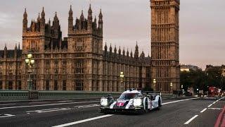 Mark Webber Stalls Porsche 919 Race Car Driving in London!