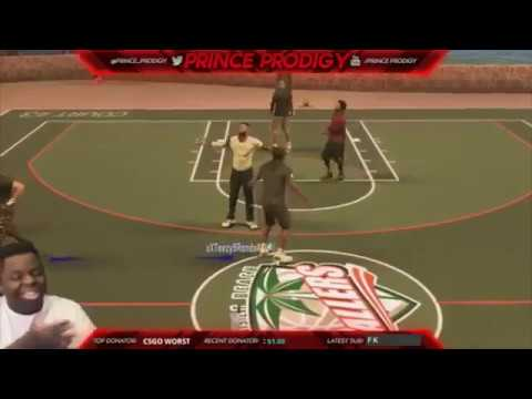 GUY FREAKS OUT PLAYING 2K! HE NEEDS TO BE STOPPED! NBA 2K17 MYPARK 2017  YouTube
