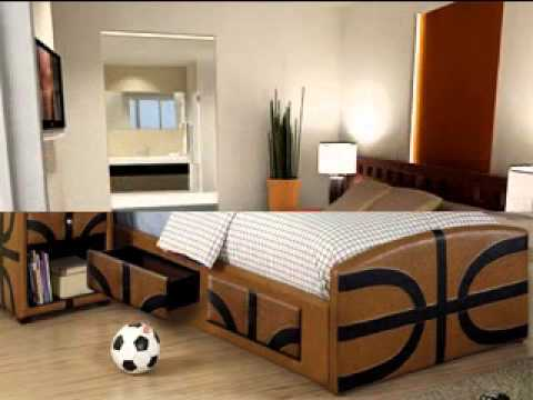 Basketball bedroom design decorating ideas   YouTube Basketball bedroom design decorating ideas
