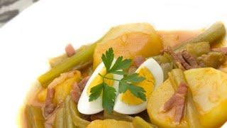 Receta de guiso de borraja con patatas – Karlos Arguiñano