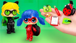 20 DIY LOL Surprise School Supplies And Crafts / Ladybug and Cat Noir