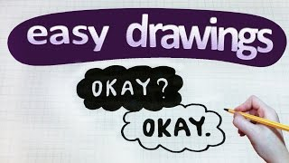 Easy drawings #121   How to draw okay ( from THE FAULT IN OUR STARS)