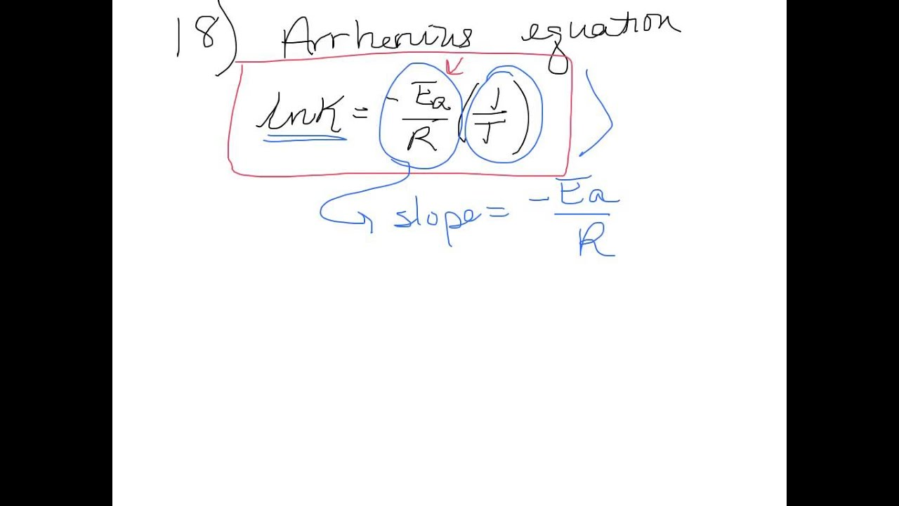 Half Life And Arrhenius Equation Problems From Practice