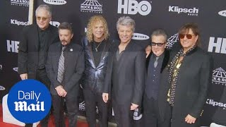 Rock icons Bon Jovi inducted into Rock n Roll Hall of Fame - Daily Mail