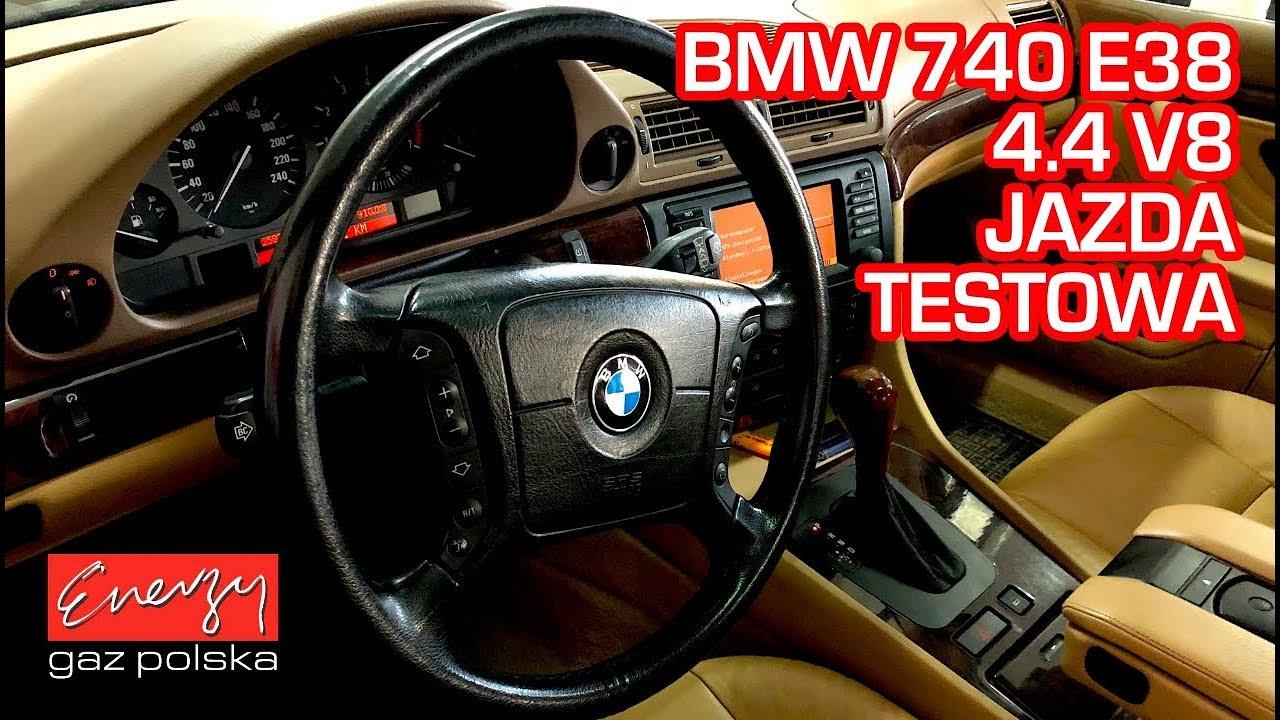 Jazda testowa próbna test BMW 740i z V8 286KM w Energy Gaz Polska na gaz BRC SQ P&D