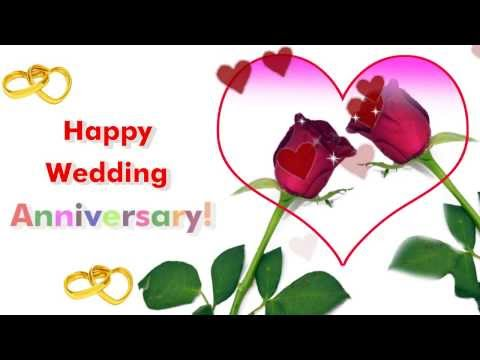 Happy wedding anniversary greeting ecard youtube happy wedding anniversary greeting ecard m4hsunfo