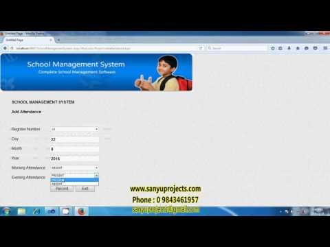 Online school management system asp.net ms access project