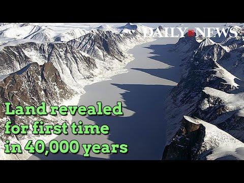 Baffin Island glacier melt unmasks land covered for 40,000 years: study