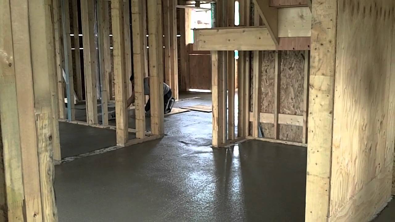 Pouring Concrete Slab For Radiant In Floor Heat Youtube