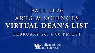 Spring 2021 Dean's List Ceremony