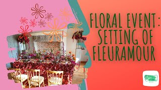 Wedding table decoration: More than 1500 flowers for my design