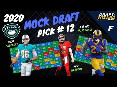 2020 Fantasy Football Mock Draft - 12th Pick | 12 Team | Half PPR