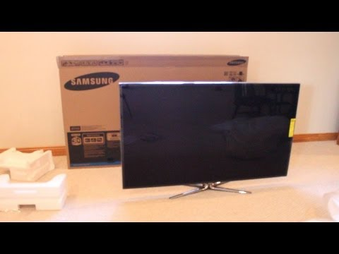 samsung 3d led tv unboxing 60 class 1080p smart tv hdtv. Black Bedroom Furniture Sets. Home Design Ideas