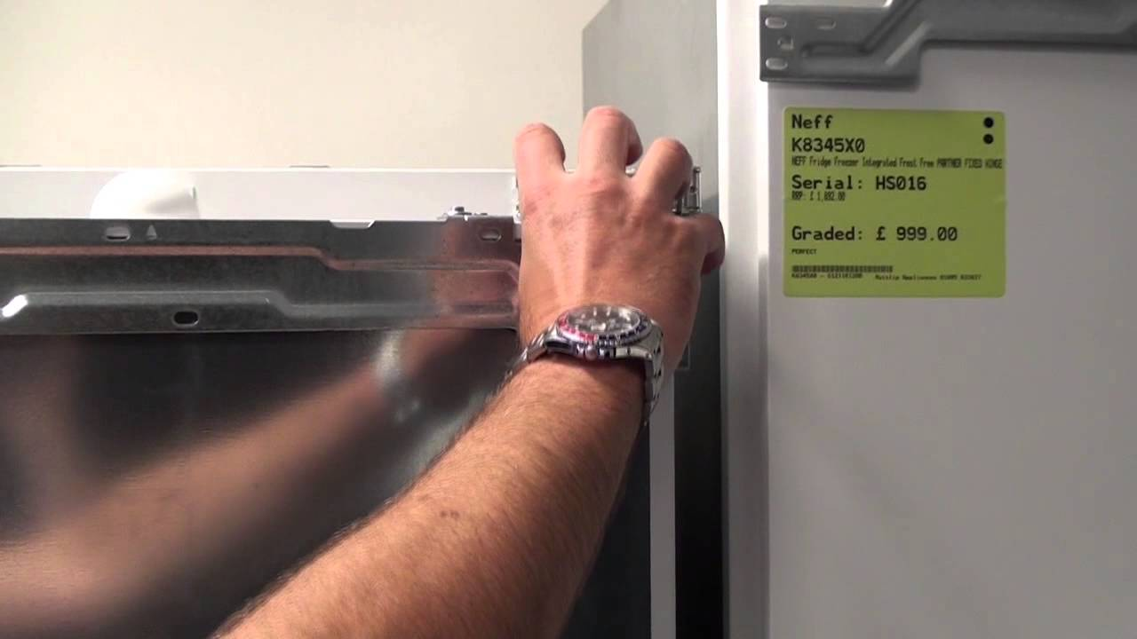 How To Re Hinge The Door On An Integrated Fridge Freezer