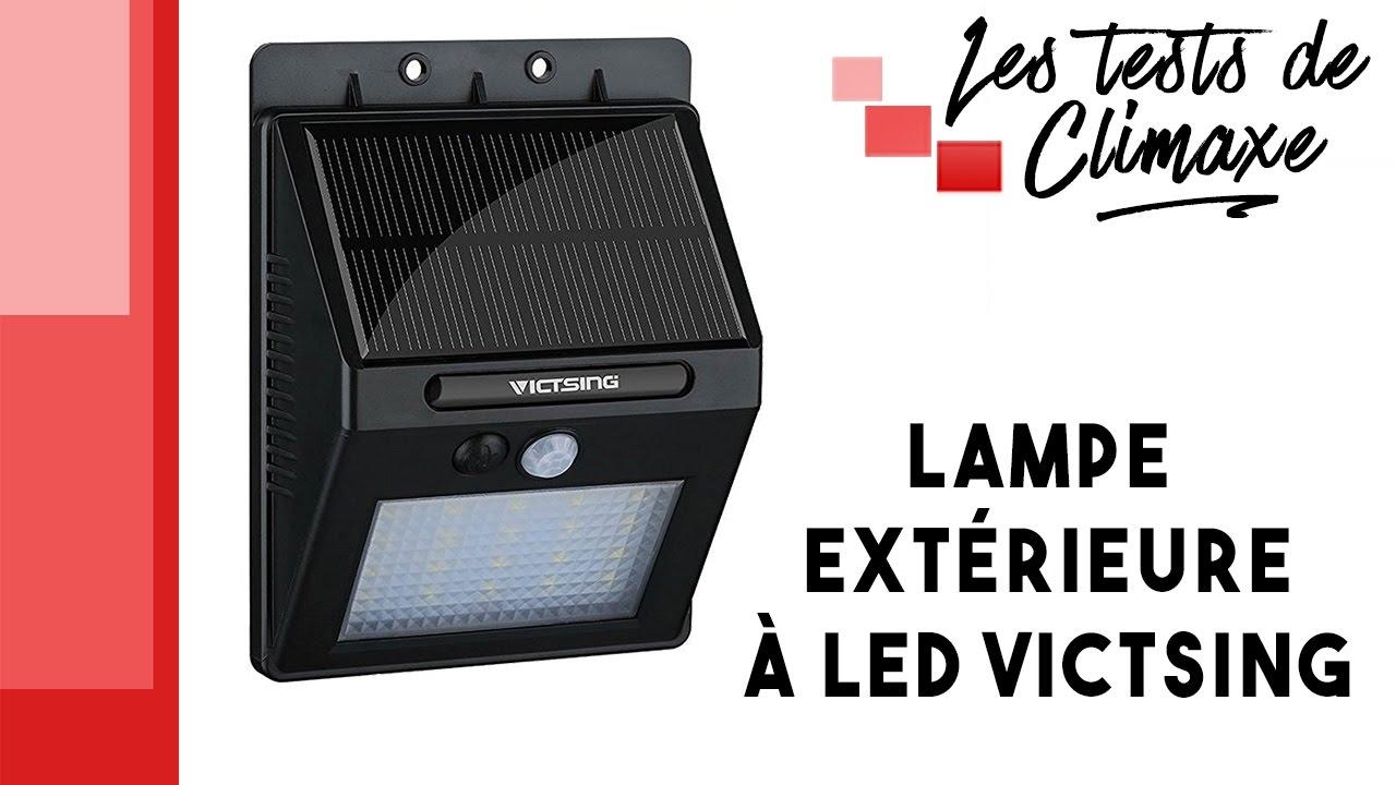 Test d\'une lampe solaire extérieure Victsing (20 LED) - YouTube