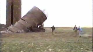 Silo collapses on a Bull Dozer.