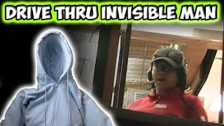DRIVE THRU INVISIBLE MAN PRANK!!