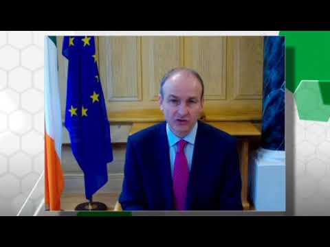 An Taoiseach Micheál Martin talks to Martin D Shanahan, CEO of IDA Ireland about FDI