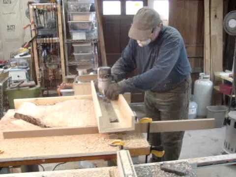 Using A Router And Jig To Flatten A Walnut Slab Table Top