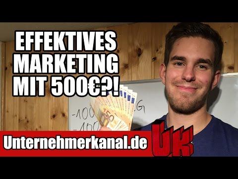 500€ für Marketing - So investiere ich in mein Business!