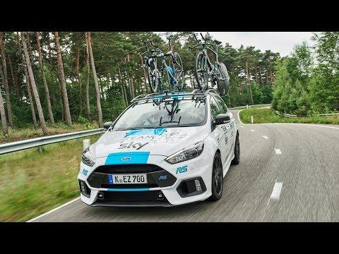 Ford feiert Partnerschaftsverlängerung mit Team Sky: Weißer Focus RS ist zusätzliches Tour de France-Begleitfahrzeug