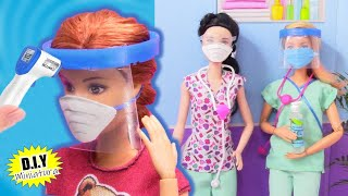 DIY: 😷 How To Make Masks, Gel, Accessories for Miniature Quarantine for Barbie Dolls