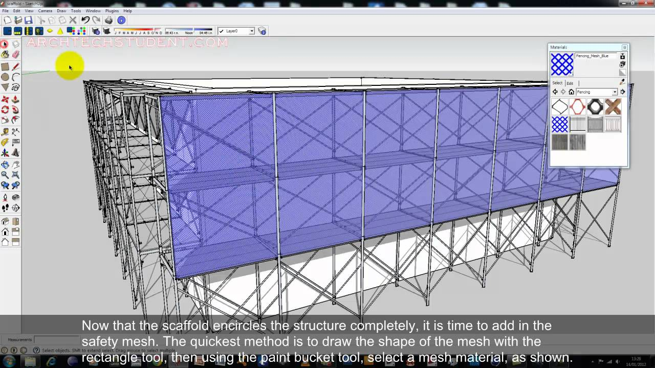 sketchup tutorial  scaffold creation