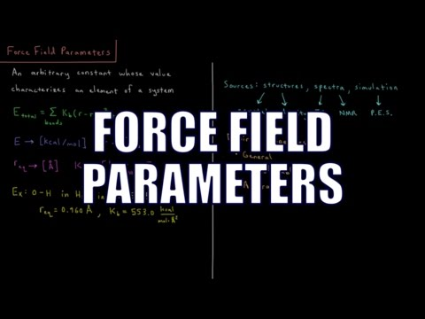 Computational Chemistry 2.3 - Force Field Parameters