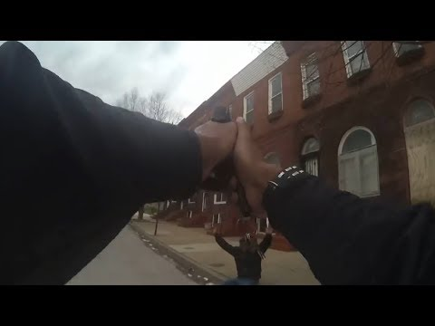 Baltimore Police Bodycam Captures Murder Attempt