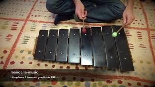 Lithophone Granit noir 432Hz