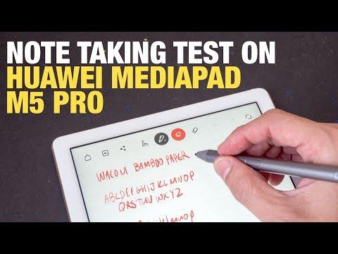 Huawei Mediapad M5 Pro Handwriting & Note Taking