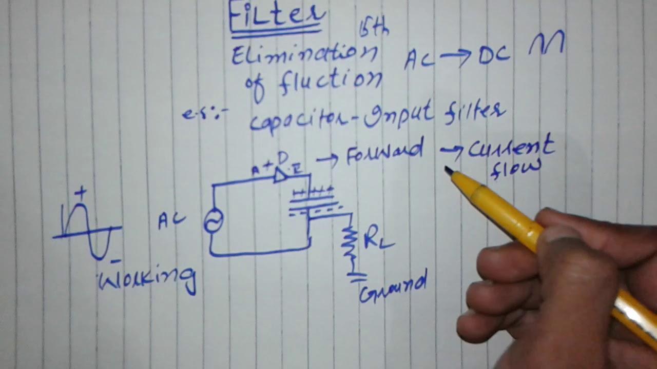 Filter And capacitor input filter|| physics||filter playlist|| hindi urdu