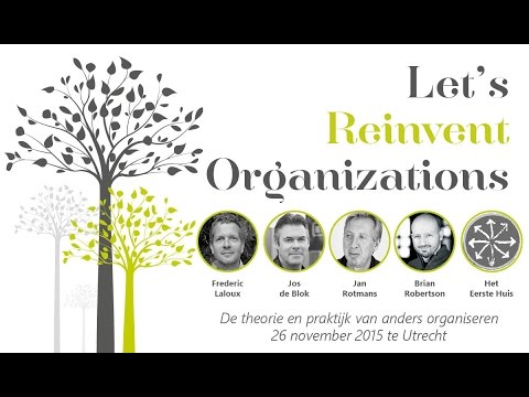 Aankondiging Let's Reinvent Organizations | 26 november 2015 te Utrecht