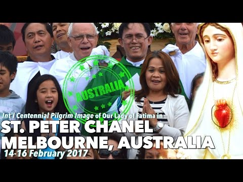 ICPI Our Lady of Fatima at St  Peter Chanel in Melbourne, Australia   February 10 12, 2017