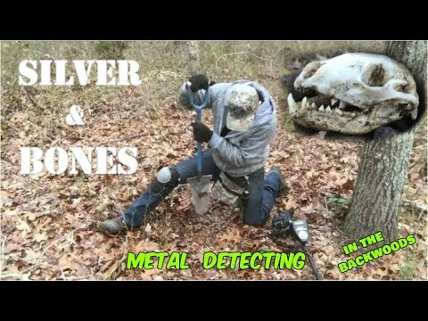 Metal Detecting the Woods for Old Settlements finds Silver & Bones! 2018 video