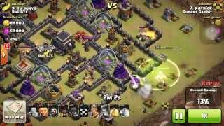 Clash of Clans Glitch! Frozen Queen ruins war attack