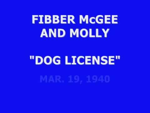 "FIBBER McGEE & MOLLY -- ""DOG LICENSE"" (3-19-40)"