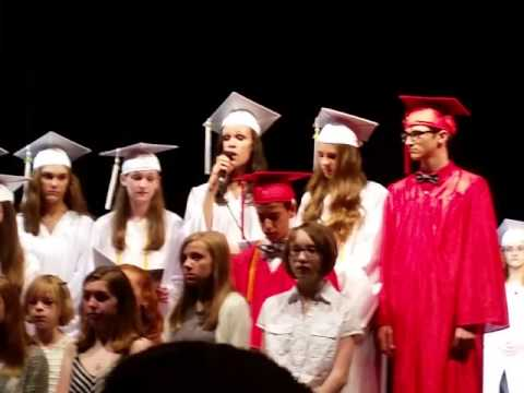 Ava middle school graduation. Snippet Wake Me Up.